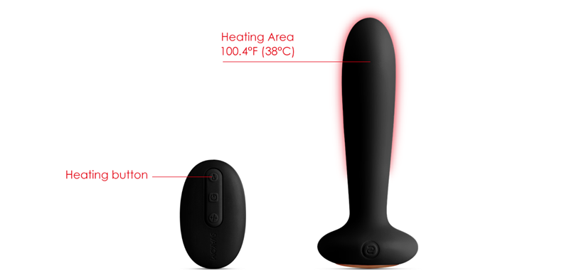 Constant Heating Function Heats the Vibrator Up to 38℃/100.4℉